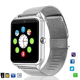 UNIQUS 696 Z60 Smart Watch GT08 Plus Metal Strap Bluetooth Wrist ...