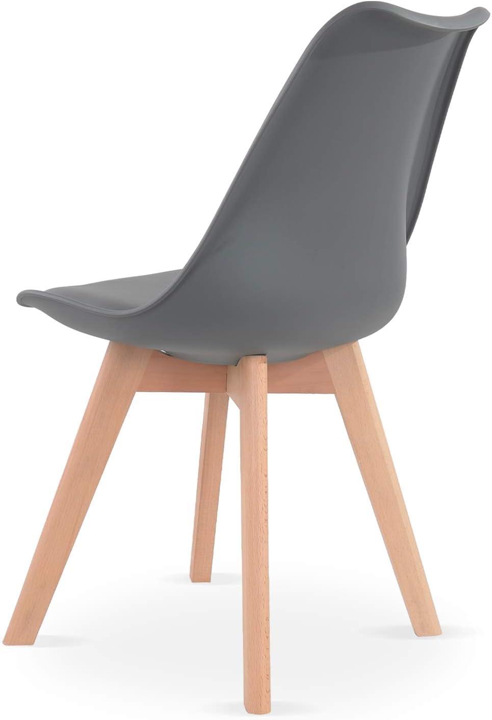 INTENSEDECO Lot de 6 chaises Style scandinave Catherina Gris
