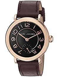 Marc Jacobs Women's 'Riley' Quartz Stainless Steel and Leather Automatic Watch, Color:Black (Model: MJ1470)