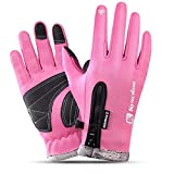 Touch Screen Gloves, Zipper Gloves for Skiing, Snowboarding, Cycling and Other Winter Sports Activities (Three Sizes)