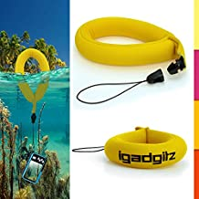 iGadgitz 1 Pack Standard Yellow Waterproof Floating Wrist Strap suitable for use with Fujifilm FinePix XP Series Tough XP10, XP20, XP30, XP50, XP51, XP60, XP80, XP90, XP150, XP170, XP200 Cameras