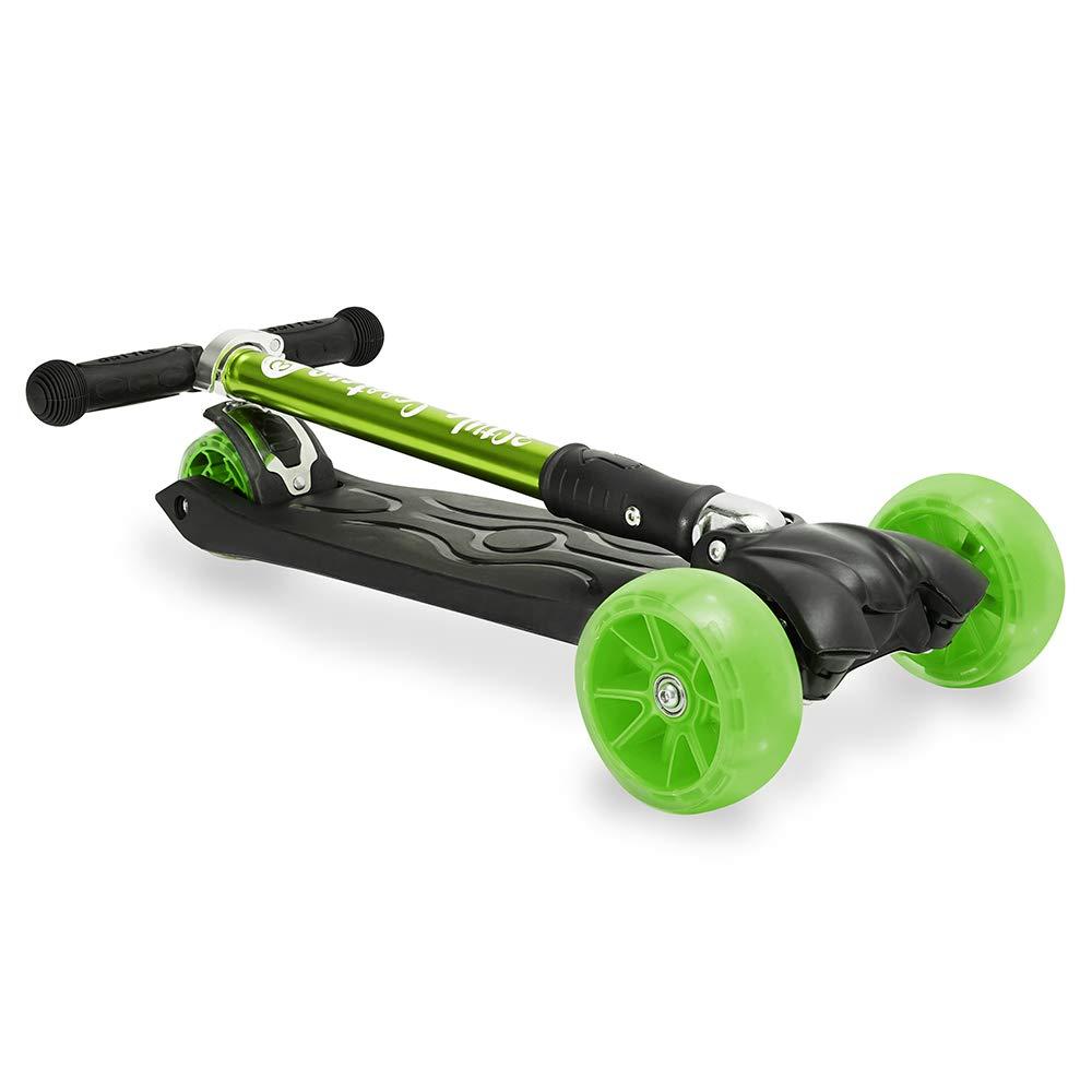 3StyleScooters/® RGS-3 Patinete de 3 ruedas Perfecto para ni/ños de 7 a/ños o m/ás dise/ño plegable y manillar de altura ajustable Ruedas iluminadas