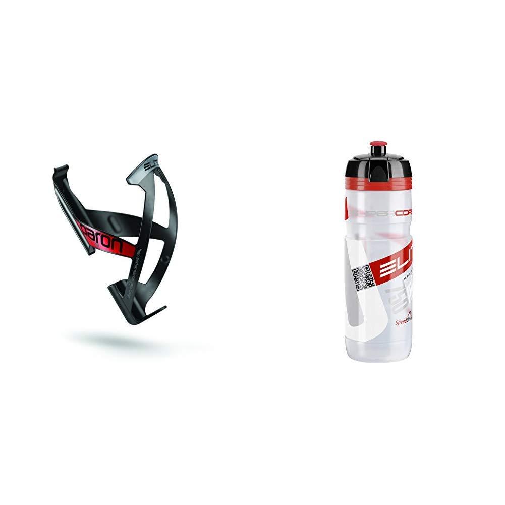 750 ml Elite FA003515153 Unisex Adulto /Portabid/ón de Ciclismo 0091754 /Bid/ón Transparente//Rojo