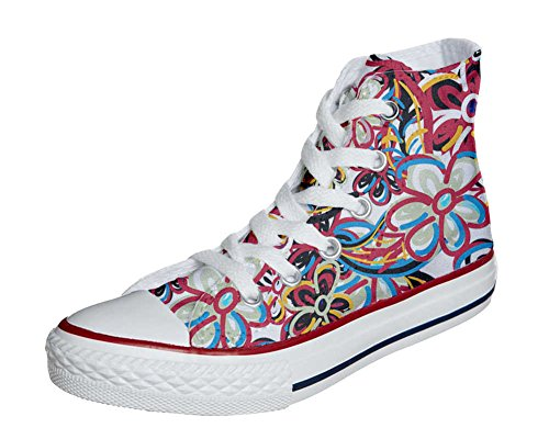 Converse All Star Customized - Zapatos Personalizados (Producto Artesano) floreal Abstract