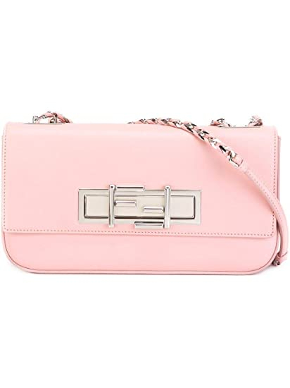 966de0afcd0 Fendi Women's 8Br7632wdf0x97-Mcf Pink Leather Shoulder Bag: Amazon.co.uk:  Clothing
