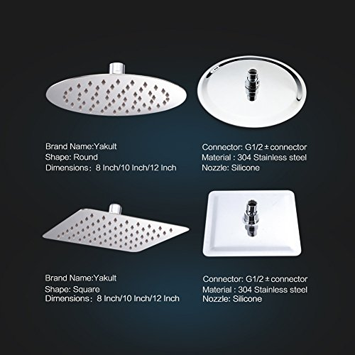 well-wreapped SR SUN RISE Fixed Mounted 10 Inch 304 Stainless Steel Rainfall Shower Head Round Rain Showerhead Ten Layer Sliver Polished Chrome 2.5gpm (Shower Arm Not Included)