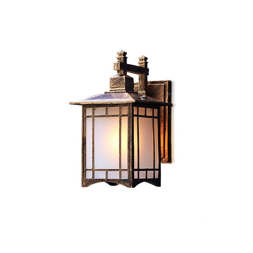 屋外壁ランプ防水新しい中国の外壁長方形のクリエイティブ照明階段ドア通路のバルコニー屋外ガーデンライト (色 : ブラス ぶらす)  ブラス ぶらす B07KM194XF