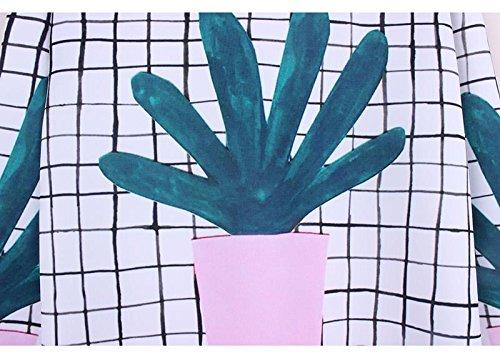 Ouvert Top Imprimé Fleur Cactus Manche shirt Longue Femme Nombril Acvip Avec Sweat qfYvxw7