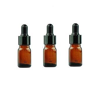 Botellas de aceite esencial de cristal ámbar de 5ml y 10