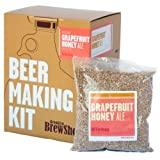Brooklyn Brew Shop Grapefruit Honey Ale Beer Making Kit: All-Grain Starter Set With Reusable Glass Fermenter, Brew Equipment, Ingredients (Malted Barley, Hops, Yeast) Perfect For Brewing Craft Beer