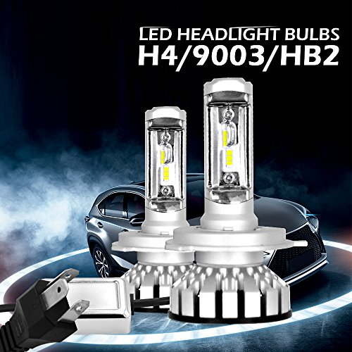 H4/HB2/9003 LUMILEDS LED Automobile Headlight Bulbs Bulbs Hi-Lo Beam with Advanced LED Chip and All-in-One Conversion kit-80W/12,000LM/6,000K (H4/HB2/9003)