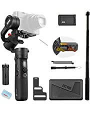Zhiyun Crane M2 3-Axis Gimbal Compatible for Action Camera, Mirrorless Compact Cameras,Smartphones,Payload 130g - 720g,with Tripod and Extension Pole