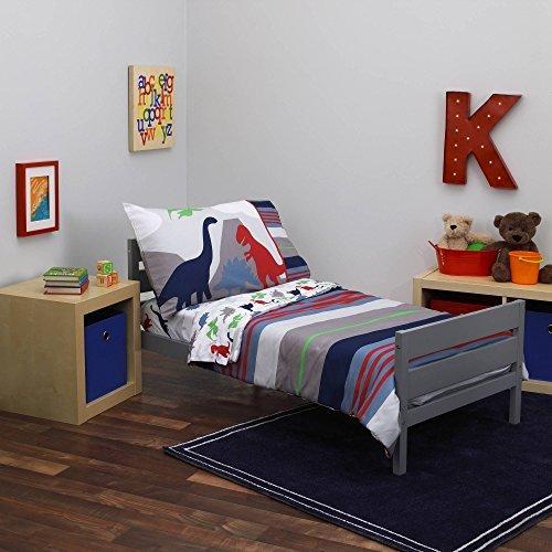 Everything Kids Dinosaur II 4pc Toddler Bed Set - Jurassic Theme