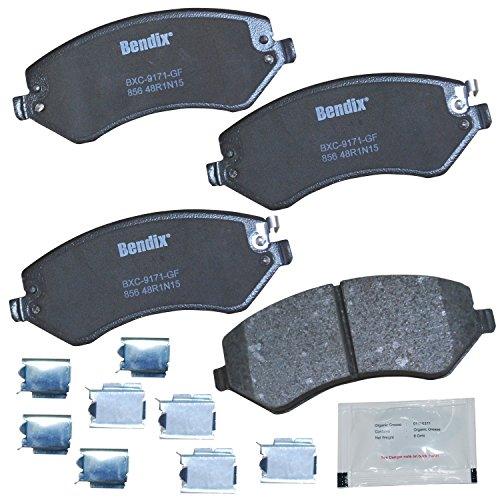 Bendix Premium Copper Free CFC856 Premium Copper Free Ceramic Brake Pad (with Installation Hardware Front)