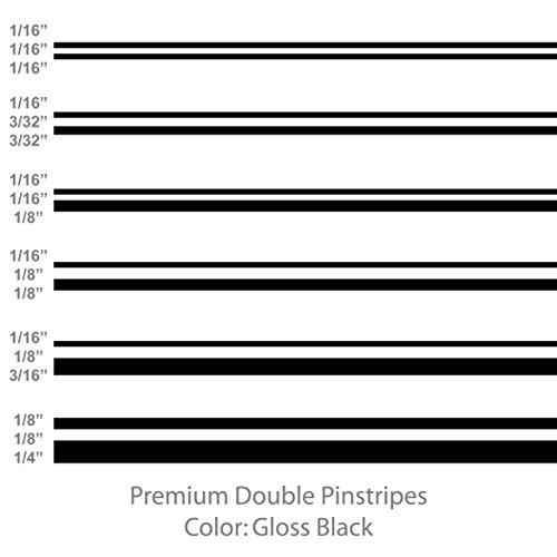 Premium Double Pinstripes (Gloss Black) 1/8