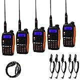 Baofeng GT-3 TP Mark III 8W 2m/70cm UHF/VHF Dual Band hand-radio walkietalkie amateur (5 stuks + kabel)
