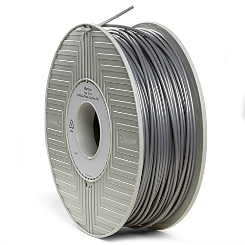 Verbatim 3D Printer Filament - PLA High-Grade 3mm 1kg Reel - Widely Compatible with 3D Printers - Silver