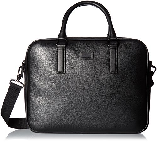 Ted Baker Men's Caracal Leather Document Bag, Black by Ted Baker