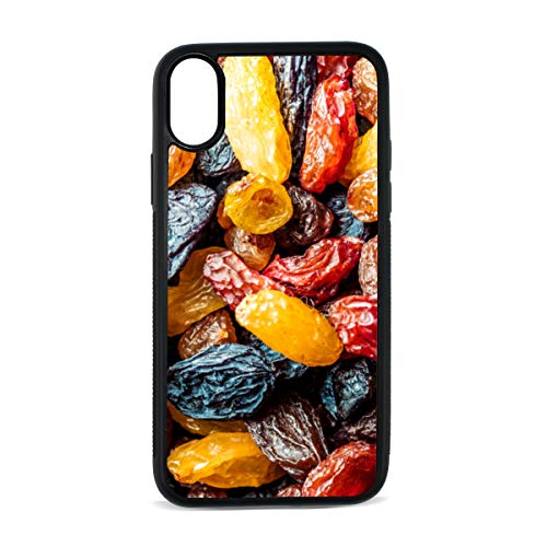 Case for iPhone Dried Raisins Sweet and Sour Snacks Digital Print TPU Pc Pearl Plate Cover Phone Hard Case Cell Phone Accessories Compatible with Protective Apple Iphonex/xsCase 5.8 Inch
