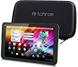 Artchros 7'' Android 4.4 Quad Band GSM + WCDMA 850/2100MHz Unlocked 3G Smart Phone tablets / Phablet with Dual SIM slot + WiFi + Bluetooth 1024*600 HD Capacitive Touch Screen Display Dual CAM 8GB Blue