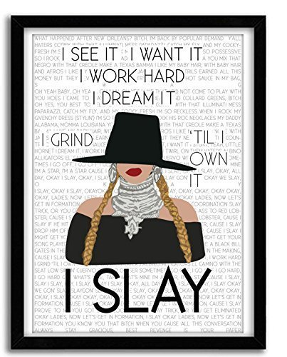 I Slay - Lyric Poster Formation, Beyhive gift, Formation Poster, Pop Art, Wall Decor, Giclee Art,