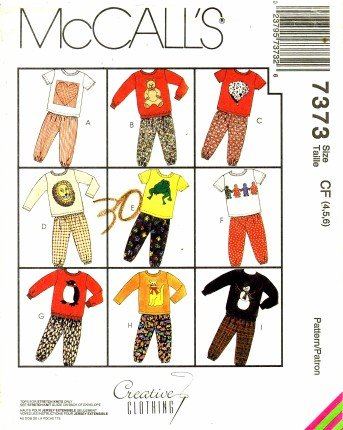 McCall's 7373 Sewing Pattern Toddler Boys Girls Shirt Pants (Sewing Patterns For Toddler Boys)