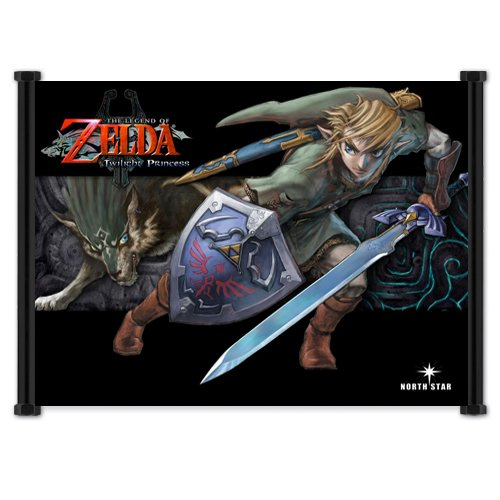 Legend of Zelda: Twilight Princess Game Fabric Wall Scroll Poster