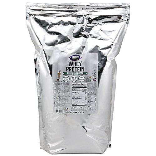 - NOW Sports Whey Protein, Creamy Chocolate, 10-Pound