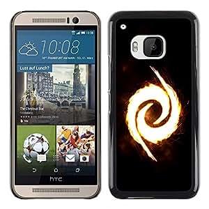TopCaseStore / la caja del caucho duro de la cubierta de protección de la piel - Fire Swirl - HTC One M9
