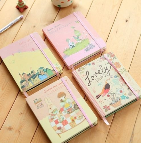 Shalleen 1pc Journal Diary Cute Hard Cover Planner Lined Notebook Memo