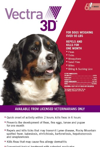Vectra 3D for Dogs Over 95 LBS 6-Dose by Unknown