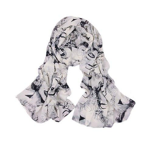(Lightweight 2014 Women's Gauzy Marilyn Monroe & Boutique Designs Long Silk Blend Chiffon Scarf Wrap Shawl Christmas)