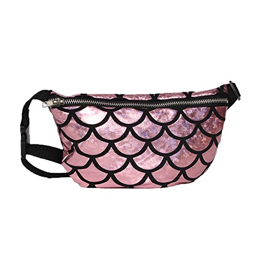 Menglihua Womens Lady Glitter Fanny Evening Party Mermaid Crossbody Pack Waist Bag Pink One Size (Wicker Chair Ikea)