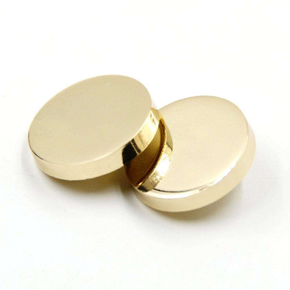 30PCS Metal Flat Button Women Suit Woolen Coat Button Male Jacket Button Shirt Suit Trousers Button Round Shaped Sewing Button (Black, 11.5mm) Bestowal