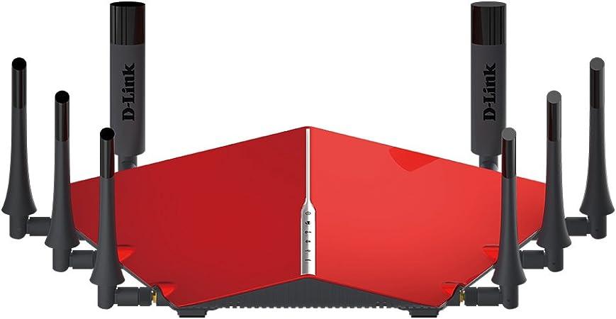 D-LINK DIR-895L AC5300 Ultra - Router inalámbrico con Wi-Fi, Color Negro y Rojo