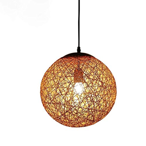 (Cannabis Rope Chandelier Creative Hemp Restaurant Amber Chandelier, Ceiling Light Home Aisle Stair Lamp)