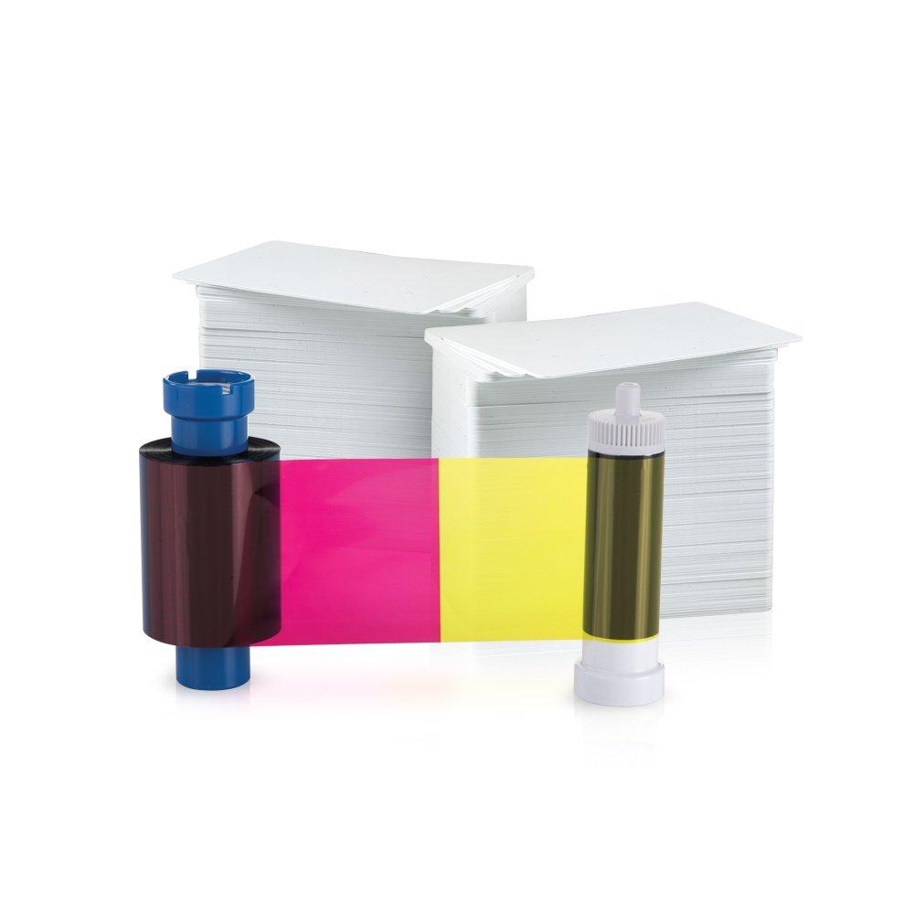 AlphaCard YMCKOK 250 Print Ribbon//Card Pack for AlphaCard Compass Printer