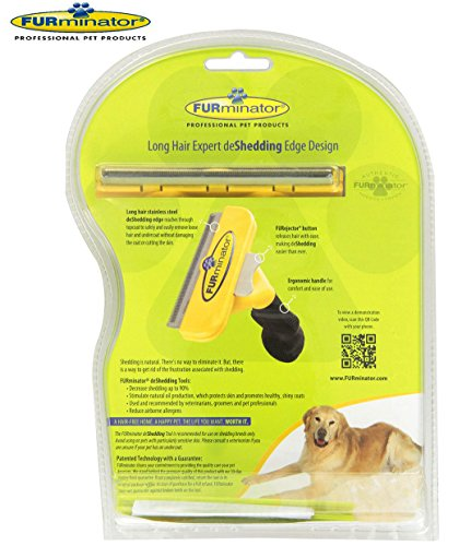 Long-Hair-deShedding-Brush-for-Large-Dogs-51-90-Lbs-4-Inch-Edge-Blade-FURminator-Tool-Comb