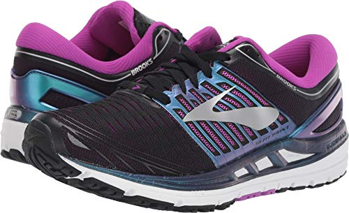 Brooks Women's Transcend 5 Road Running Shoes Black/Purple/Multi - 7B