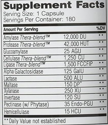 Enzymedica Resumen (no-Gmo, Kosher, 180 cápsulas vegano)