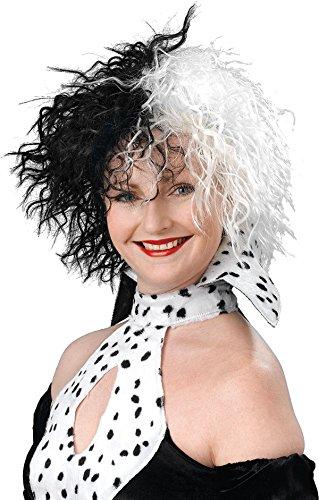Cruella De Vil Dog Costume (Halloween Tv Book Character Fancy Party Dog Lovin' Diva Cruella De Vil Wig)