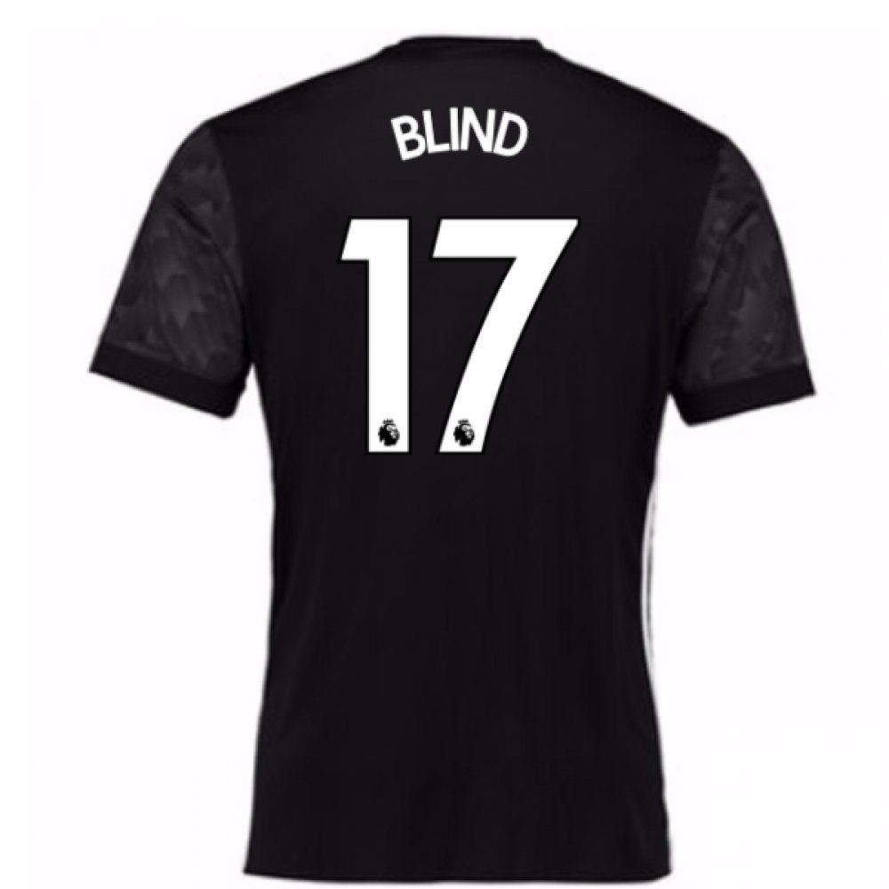2017-18 Man Utd Away Football Soccer T-Shirt Trikot (Kids) (Daley Blind 17)