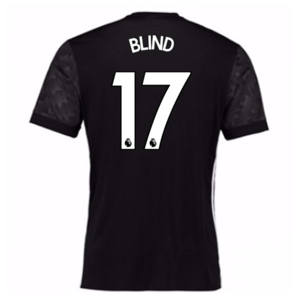 2017-18 Man Utd Away Football Soccer T-Shirt Trikot (Kids) (Daley Blind 17)