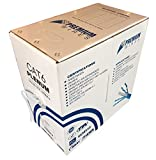 Cat6 Plenum Rated Jacket 1000ft Solid UTP Network 550MHz Bulk Ethernet Cable White
