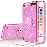 Image of Wydan Case Compatible for Apple iPod Touch 6th, 5th Generation - Bling Glitter Ring Kickstand Phone Cover
