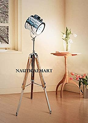 Nautical Designer Tripod Floor Lamp Lighting Spot Light Home Decor By Nauticalmart