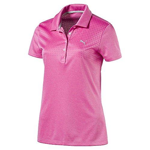 (PUMA Women's Jacquard Polo Shocking Pink Heather XS)