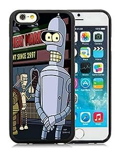 Unique Designed With Futurama Bender Cover Case For iPhone 6 4.7 Inch TPU Black Phone Case CR-223