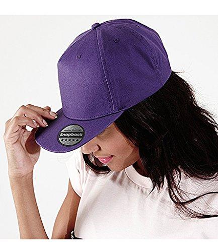 Beechfield - Gorra/Visera diseño Rapero/Rapper/Hip Hop/NBA 5 Paneles Modelo Retro Azul Brillante
