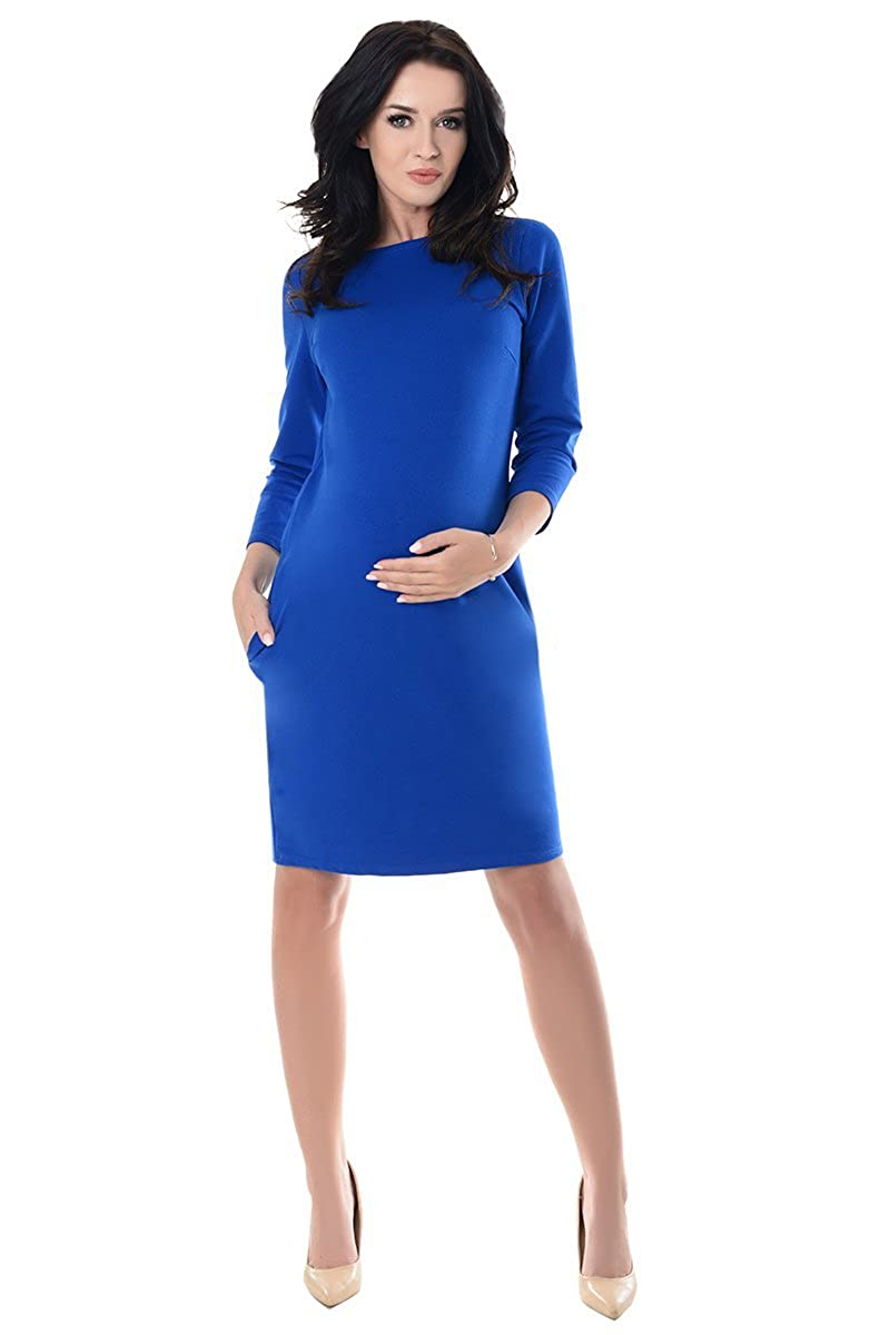 Purpless Maternity Casual Pregnancy Dress With Pockets 6107